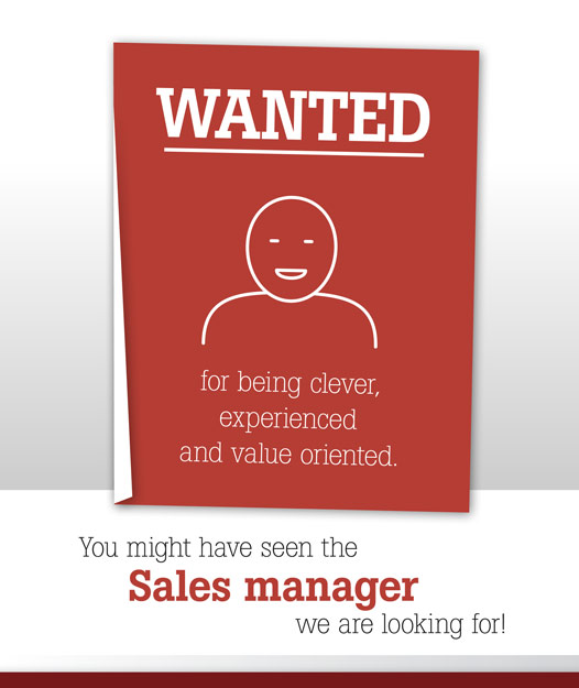 We are looking to find a clever, experienced and value oriented sales manager for our growing US market territory.